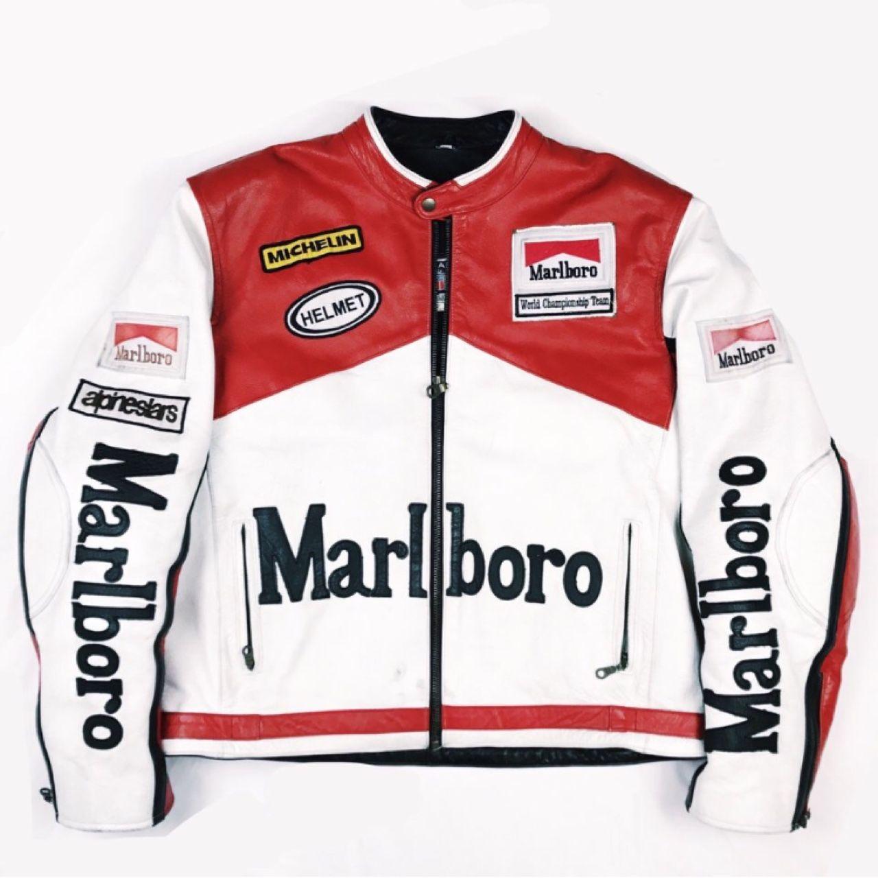 Vintage Marlboro Racing Leather Jacket Marlboro Jacket Jackets Marlboro Clothing