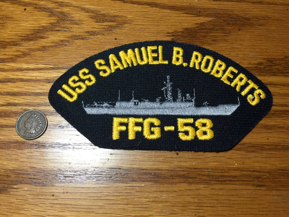 1a3b58619e7 USS Samuel B. Roberts FFG-58 Guided Missile Frigate Ship Military US Navy  Hat Patch by PickledPterodactyl on Etsy