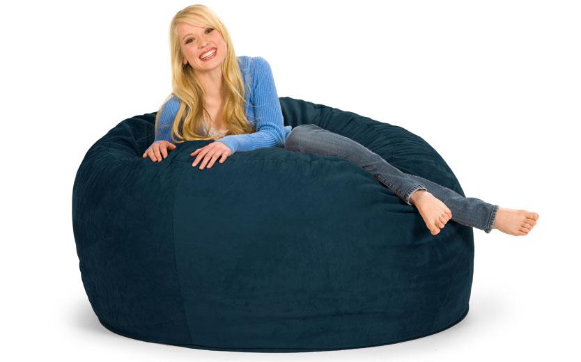 Phenomenal 5 Ft Round Bean Bag Chair Bean Bag Sofa Giant Bean Bags Creativecarmelina Interior Chair Design Creativecarmelinacom