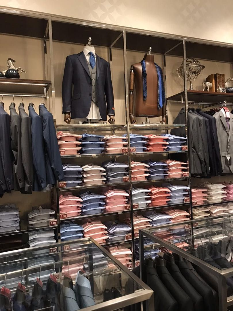 Mens Wear Display Ideas In 2020 Fashion Shop Interior Shop Wall Decor Standing Clothes Rack