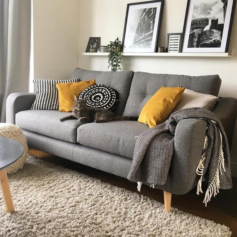 Myers Small Sofa Sofas Living Room Furniture, Oak