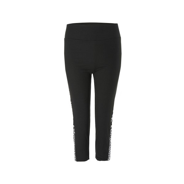 8.65$  Watch here - http://dir1f.justgood.pw/go.php?t=144009804 - Active Spliced Skinny Black and White Print Women's Capri Pants