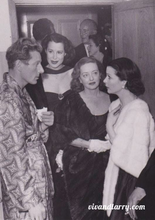 Vivien Leigh, Bette Davis and Danny Kaye. And Kitty Carlisle. Thanks to another pinner for identifying her.