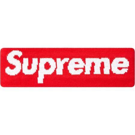 Red Supreme X New Era Headband  5738409d9b