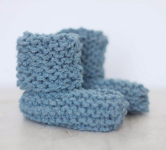 EASY Cuffed Baby Booties Free Knitting Pattern by Gina Michele ...