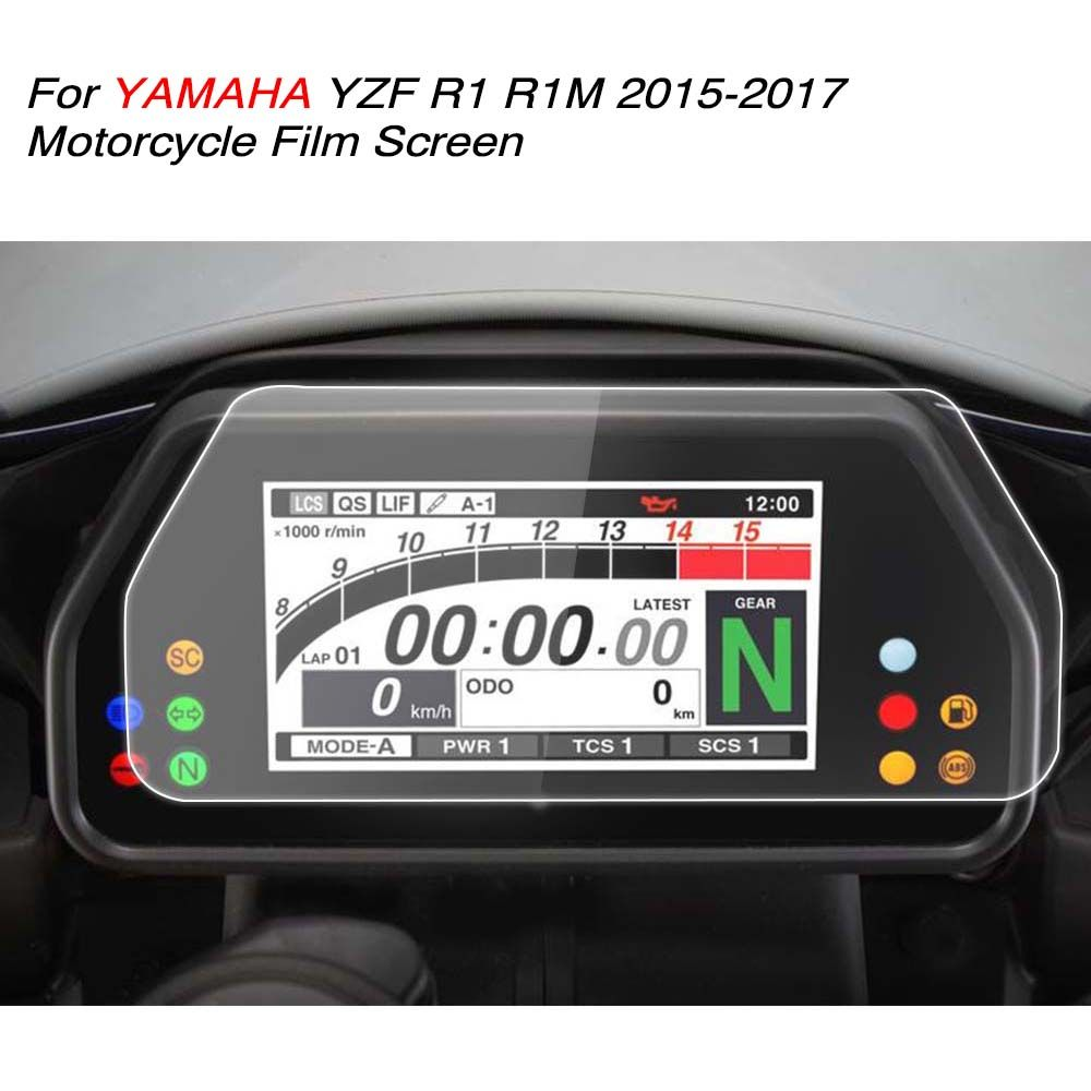 KEMiMOTO YZF R1 R1M 2017 Accessories Cluster Scratch Speedometer Film Screen Protector For YAMAHA 2015 2016 Affiliate