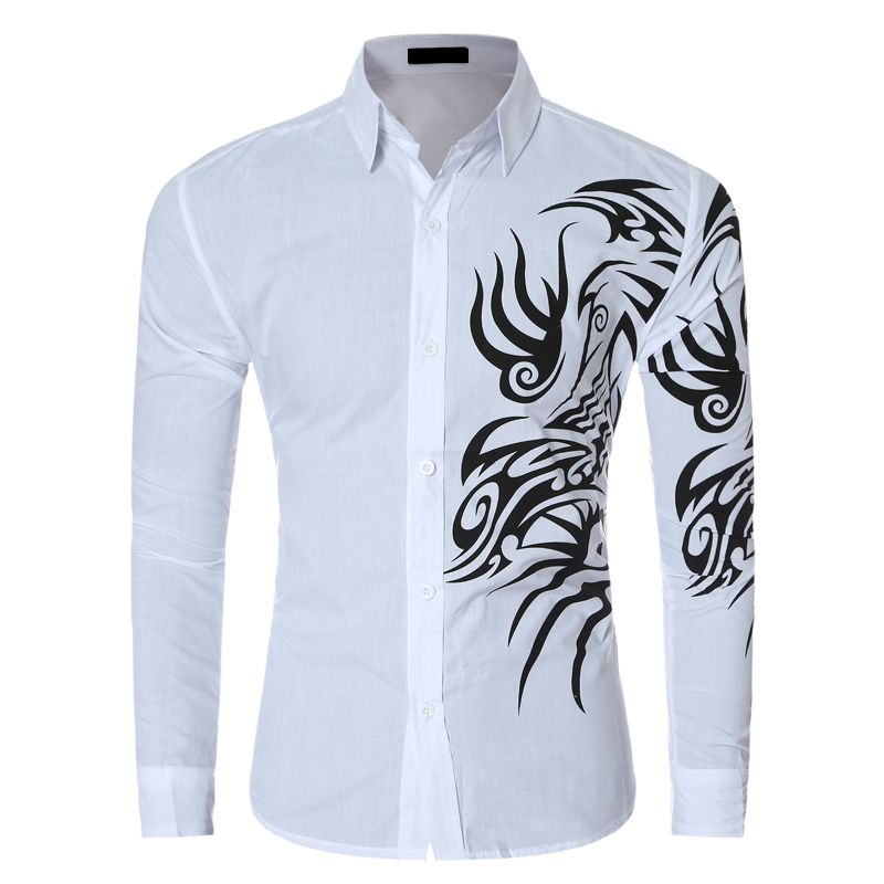 Find More Casual Shirts Information about Men Dress Shirts Long ...