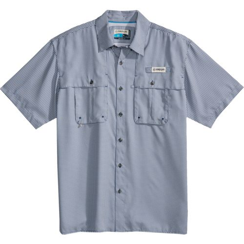483824fb Magellan Outdoors Men's Aransas Pass Short Sleeve Gingham Fishing Shirt  (Navy, Size XX Large) - Men's Outdoor Apparel, Men's Fishing Tops at Academ.