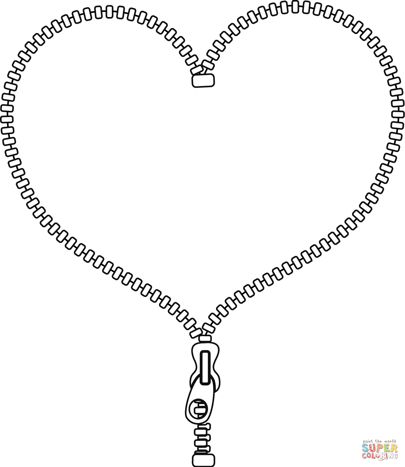 Unzip My Heart Super Coloring My Heart Silver Necklace Heart