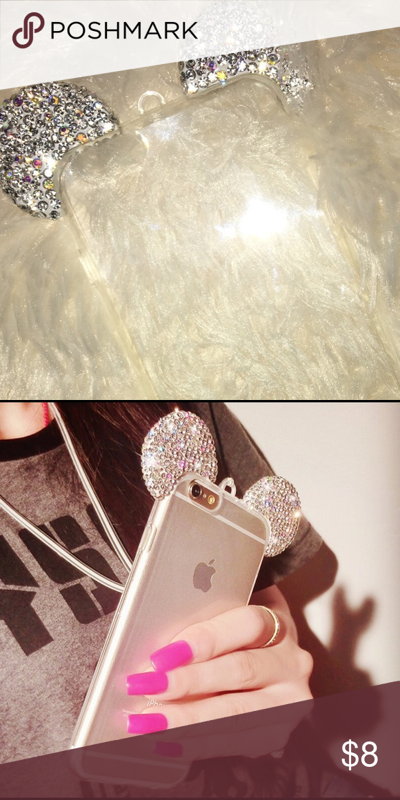 New crystal war iphone 6s plus New  Crystal ears iphone 6 s plus case silver Accessories Glasses