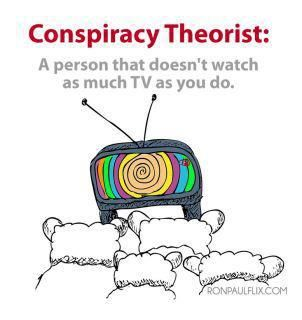Conspiracy Theorist: A person that doesn't watch as much TV as you do.