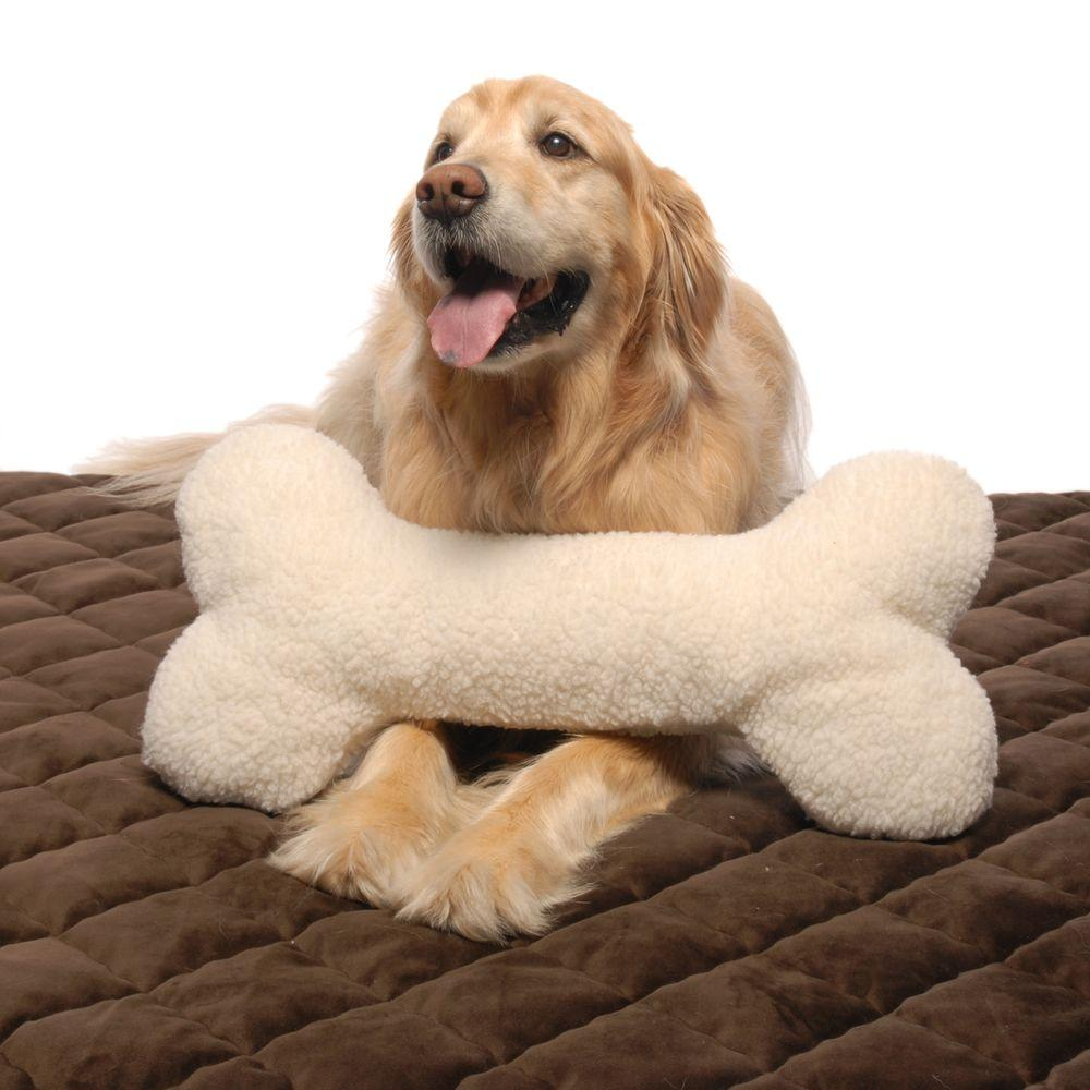 Carolina Pet Company Large Bone Pillow Toy Animal Pillows Dog
