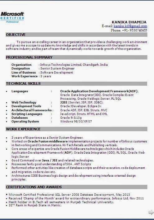 cv exemplaire Sample Template Example ofExcellent Curriculum Vitae - system engineer resume