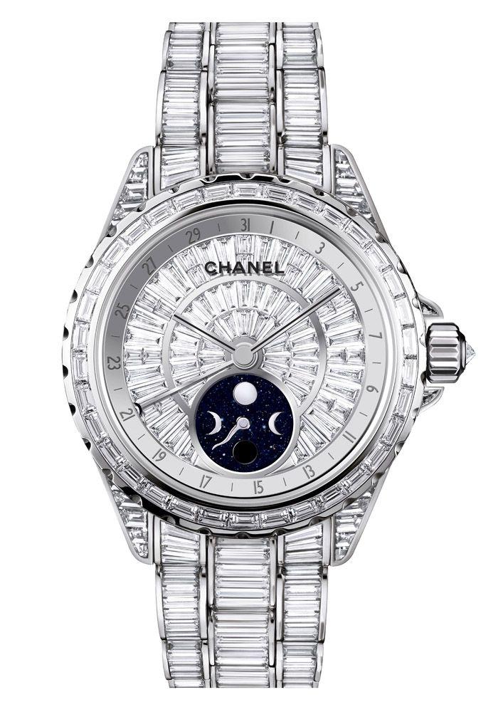 159c24b5ecb  Chanel J12 Moonphase  watch with diamonds