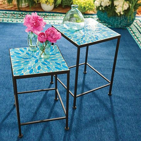 Outdoor Decor · Oceana 2 Piece Mosaic Nesting Tables
