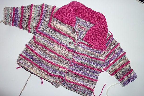 Stricken Super Easy Babyjacke Elizzza Stricken Pinterest