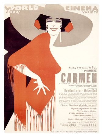 Carmen World Cinema // vintage opera poster