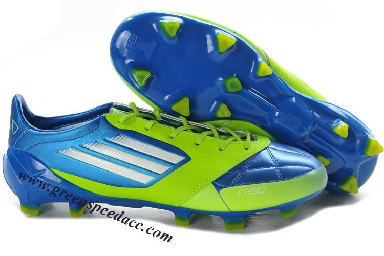 6f39dfc5797 Adidas F50 AdiZero TRX FG Leather - Anodized Blue-White-Slime ...