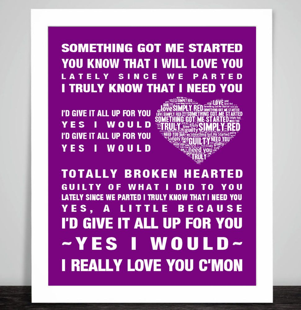 Simply Red Something Got Me Started Music Song lyrics Word