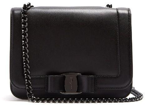 352d33bc611a SALVATORE FERRAGAMO Vara Rainbow leather cross-body bag