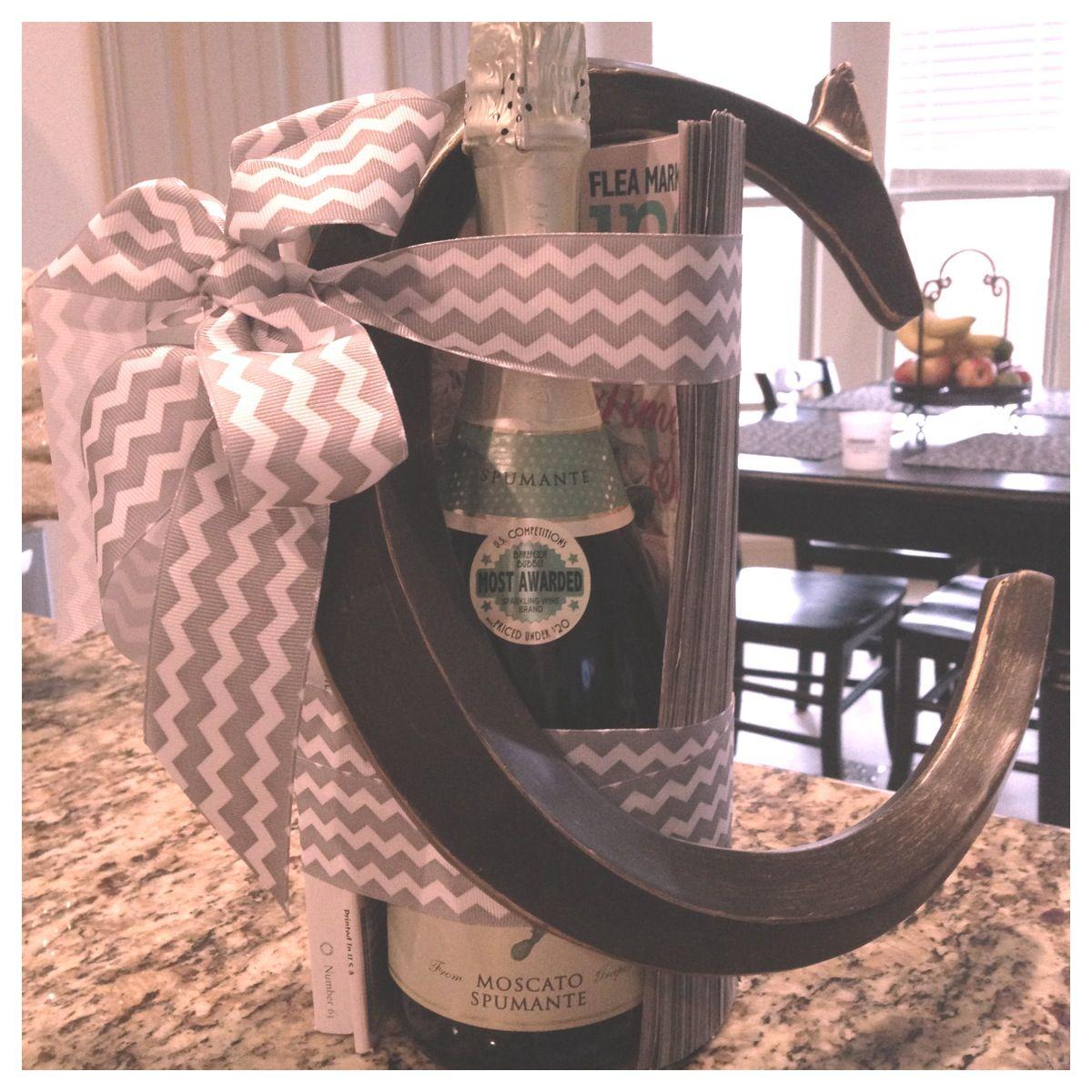 Engagement Gift Idea Bottle of wine or