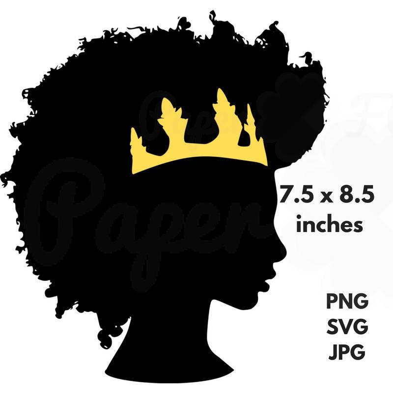 afro crown silhouette svg clip art black natural hair png files rh pinterest co uk afro clippers afro clip on piece for black women