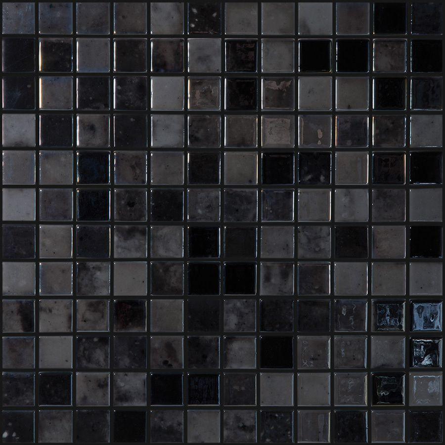 dark reflections glass mosaic