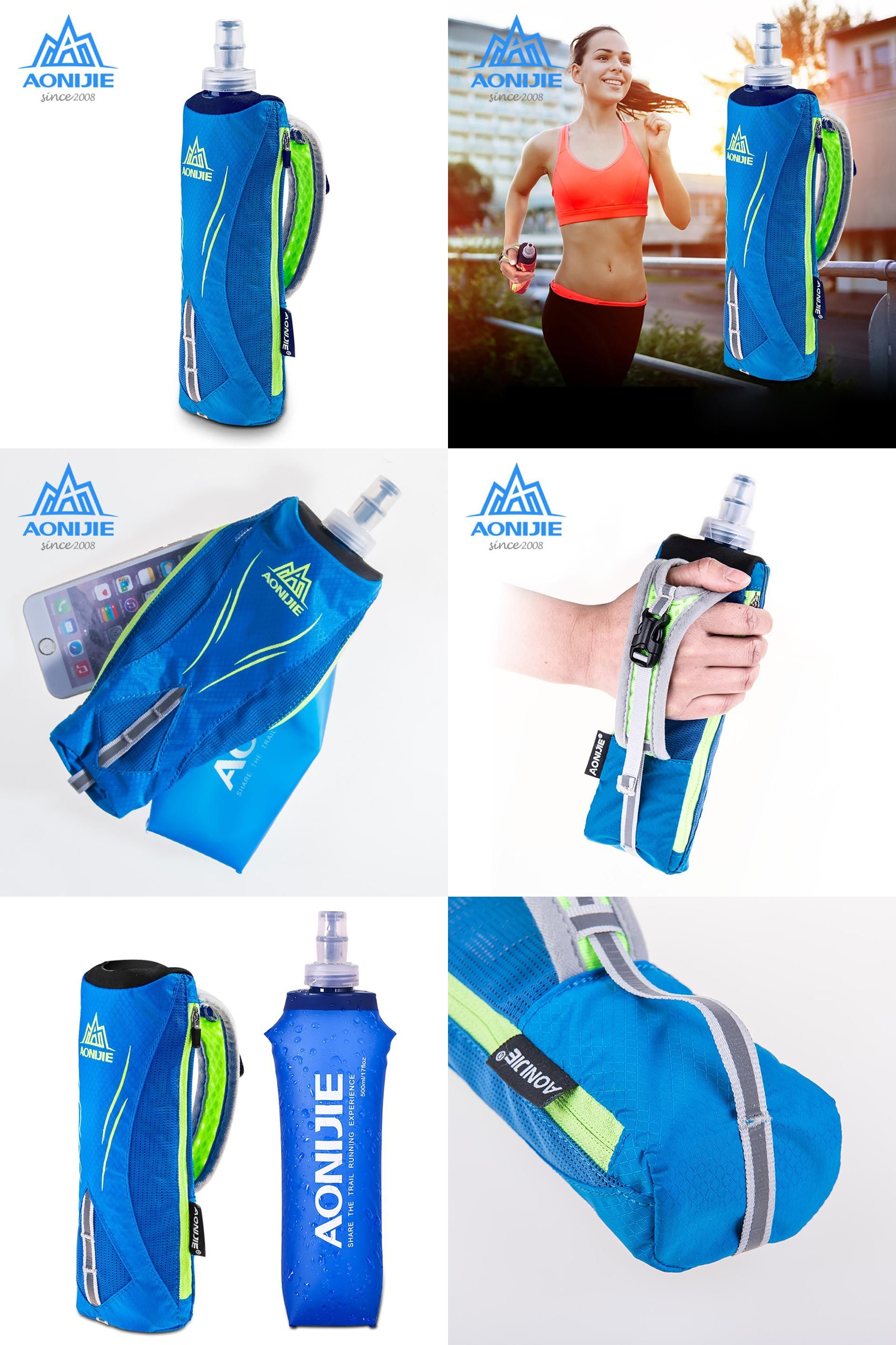 Outdoor 500ML Running Handheld Water Bottle 5.5 inch Phone Hydration Pack