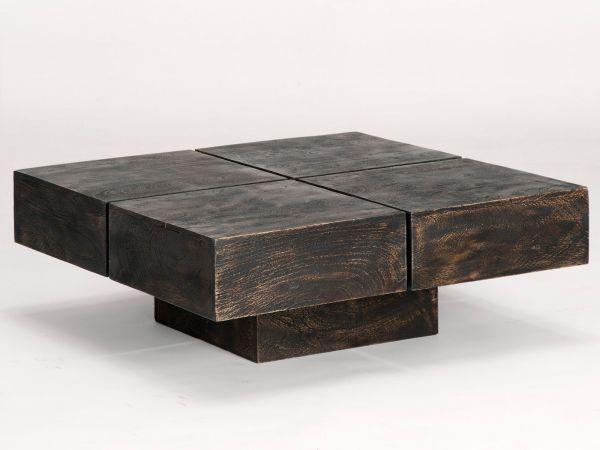 Couchtisch Square 80x80 walnut patiniert  Bild 1