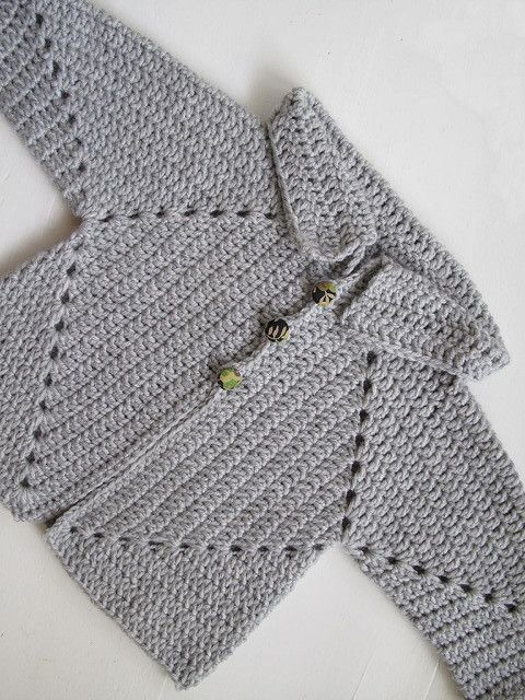 3c4f7801af0f Free Pattern  This Crochet Baby Hexagon Jacket Is Too Adorable For ...
