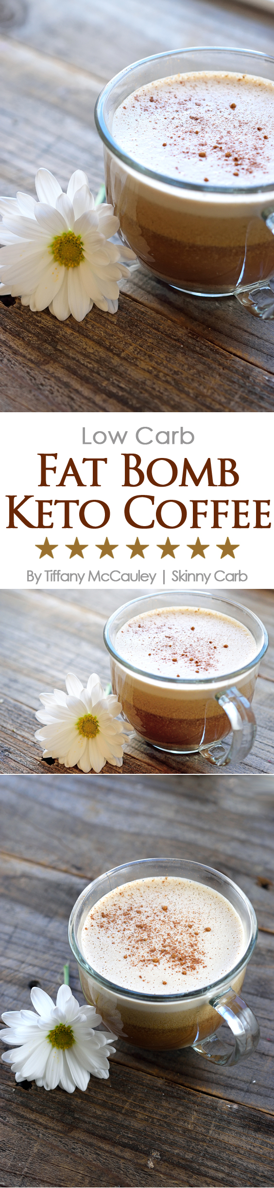 This delicious, low carb, fat bomb, keto coffee is the perfect start to your morning. Full of healthy fats and flavor, you'll come back to this recipe again and again. ~ http://www.skinnycarb.com