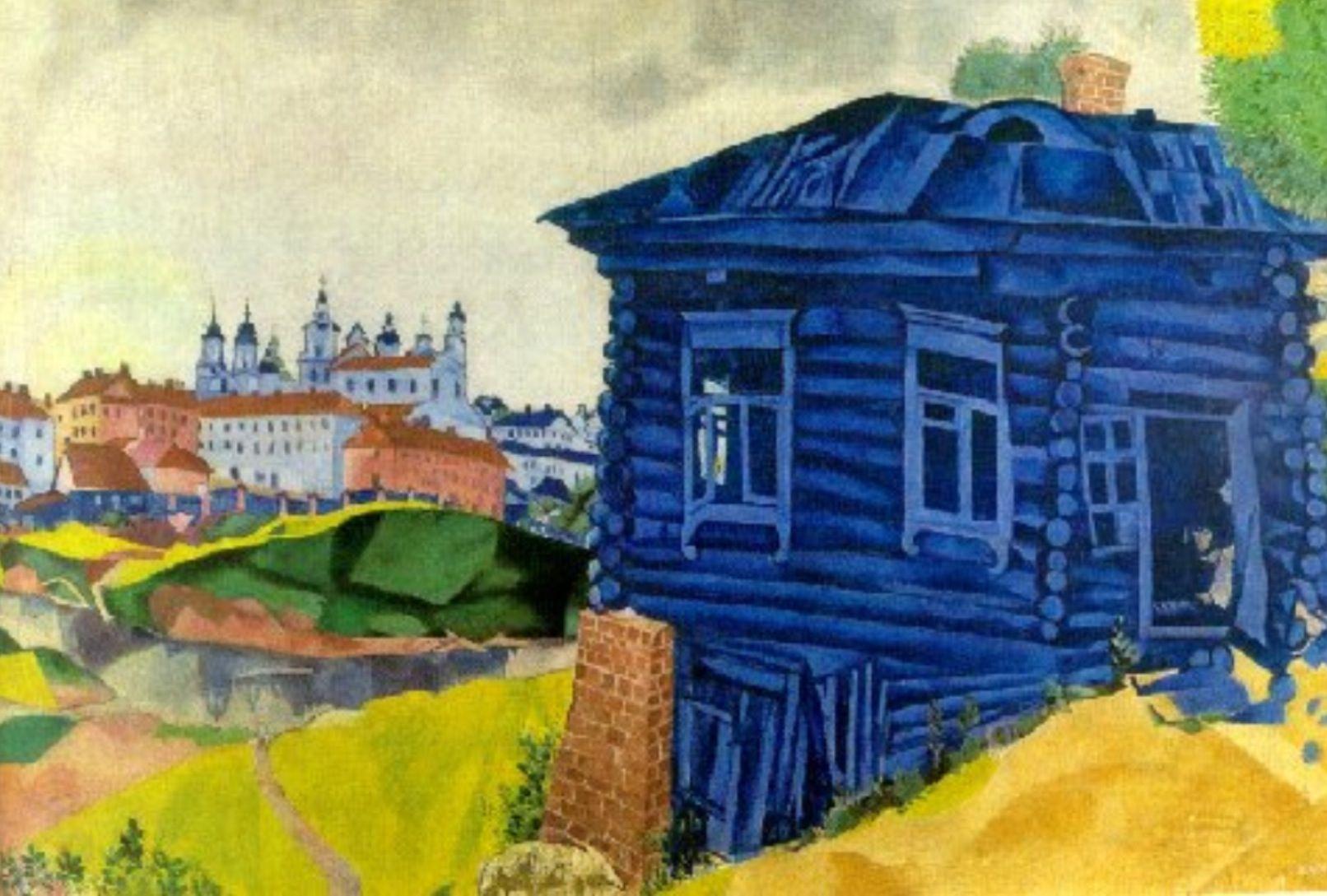Resultado de imagen de casa pintada por chagall