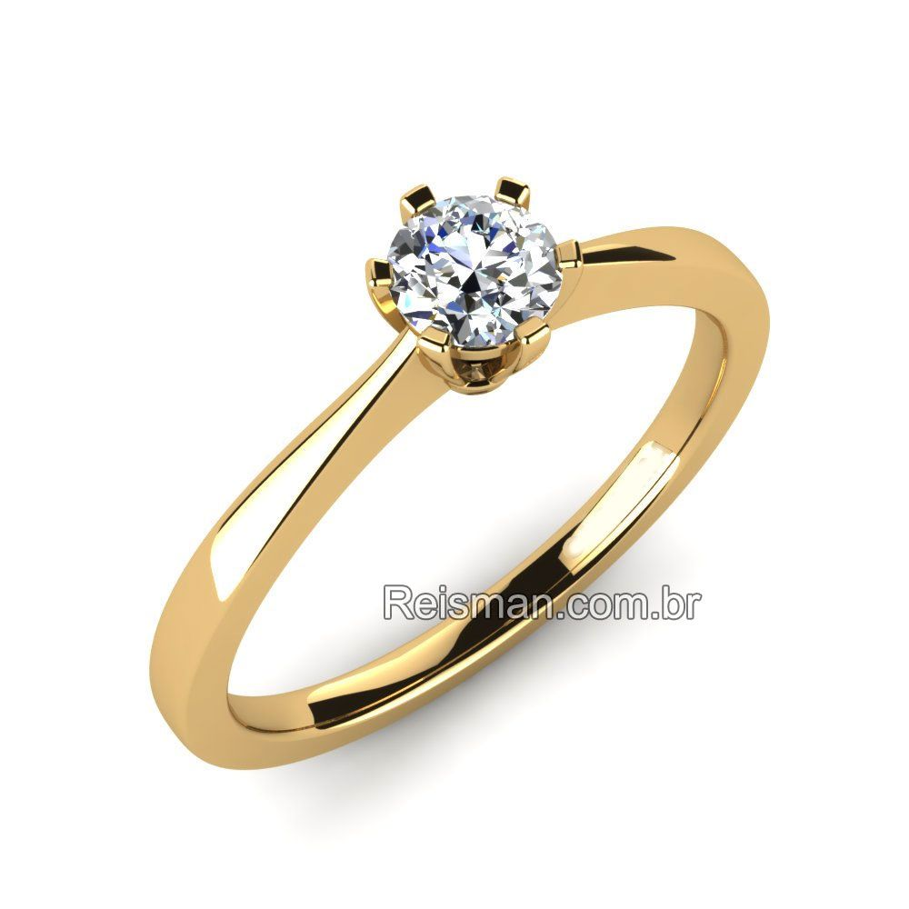 Anel de Noivado Solitario Diamante   ilk adım   Rings, Engagement ... f3d0e1a906