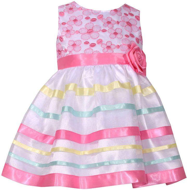 8640029f2 Sleeveless Pink Ribbon Dress - Baby Girls  Sleeveless Pink Bonnie ...