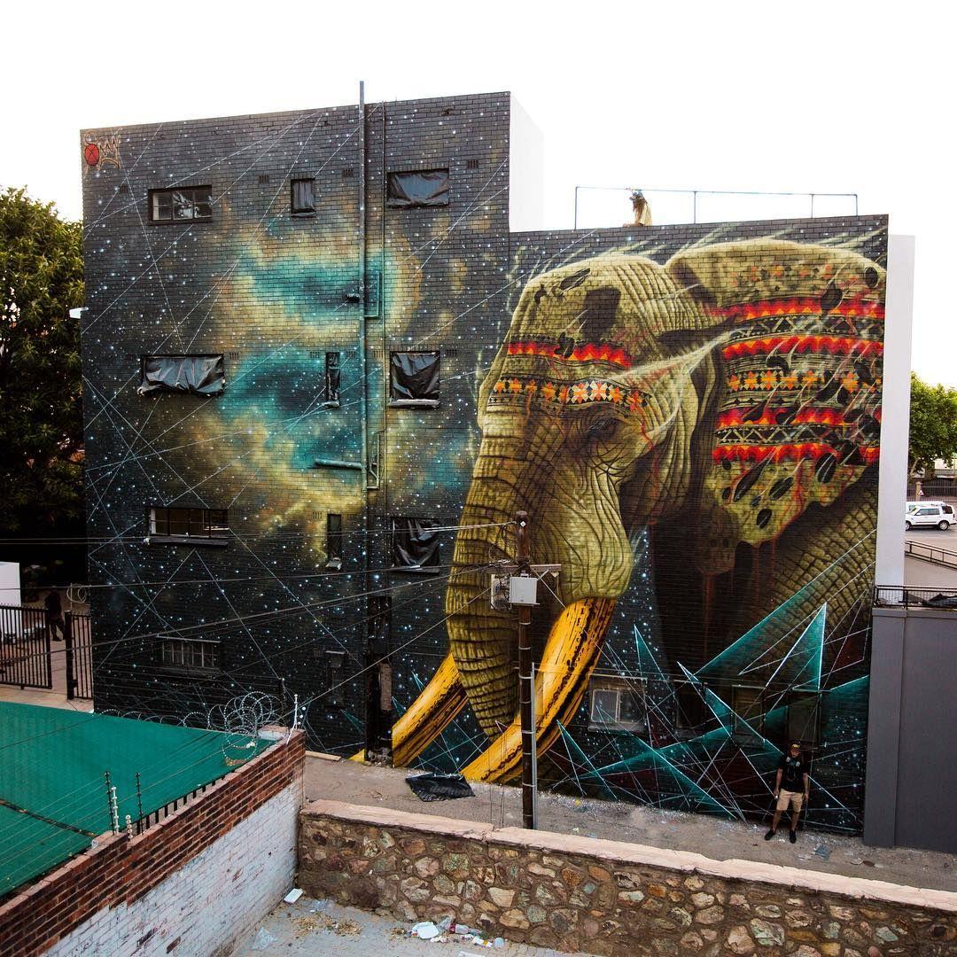 Stunning Violent Animal Street Art By Sonny Sundancer - Beautiful giant murals greek gods pichi avo