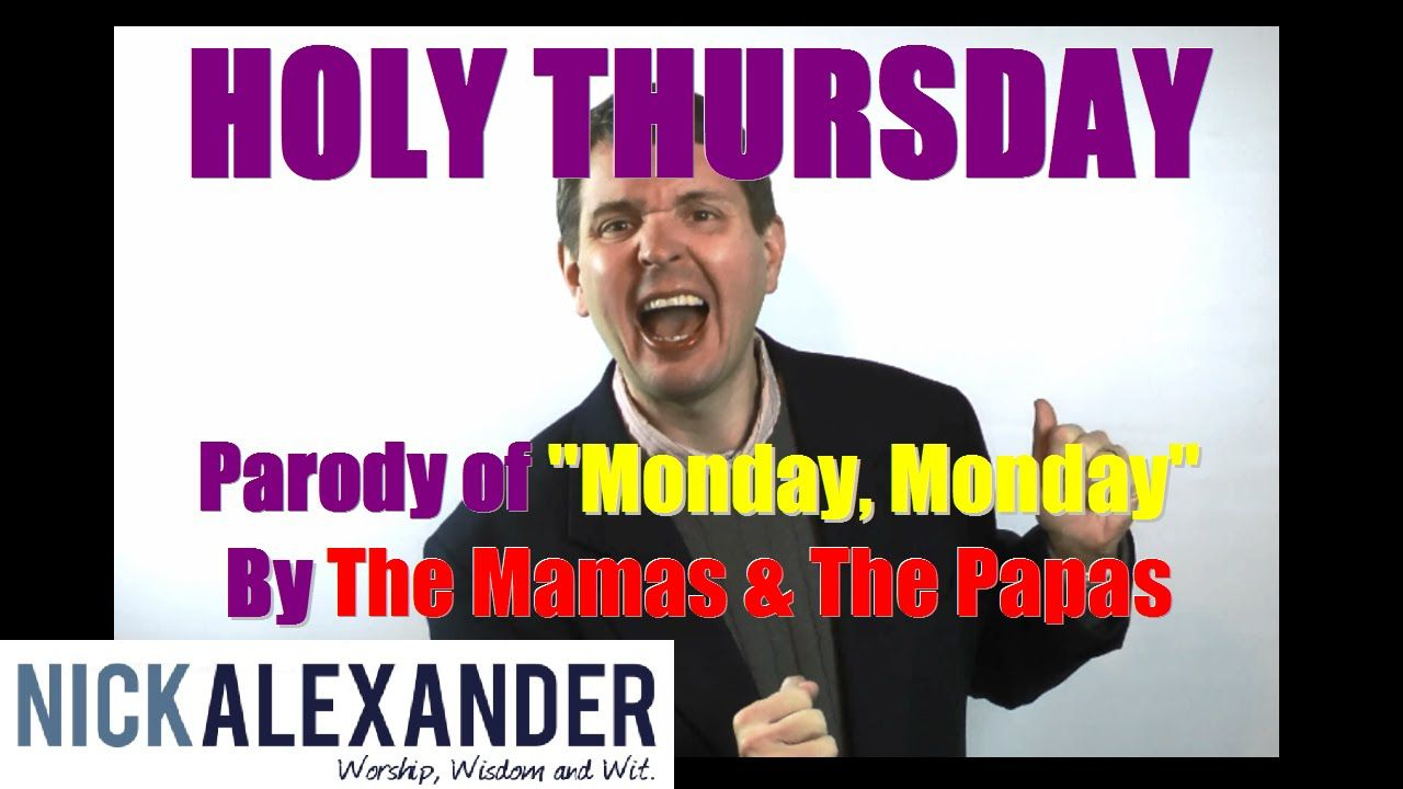 """This is a parody video of """"Monday, Monday"""" by The Mamas & The Papas, about all the events happening during Holy Week, from Tenebrae to Foot Washing to Euchar..."""