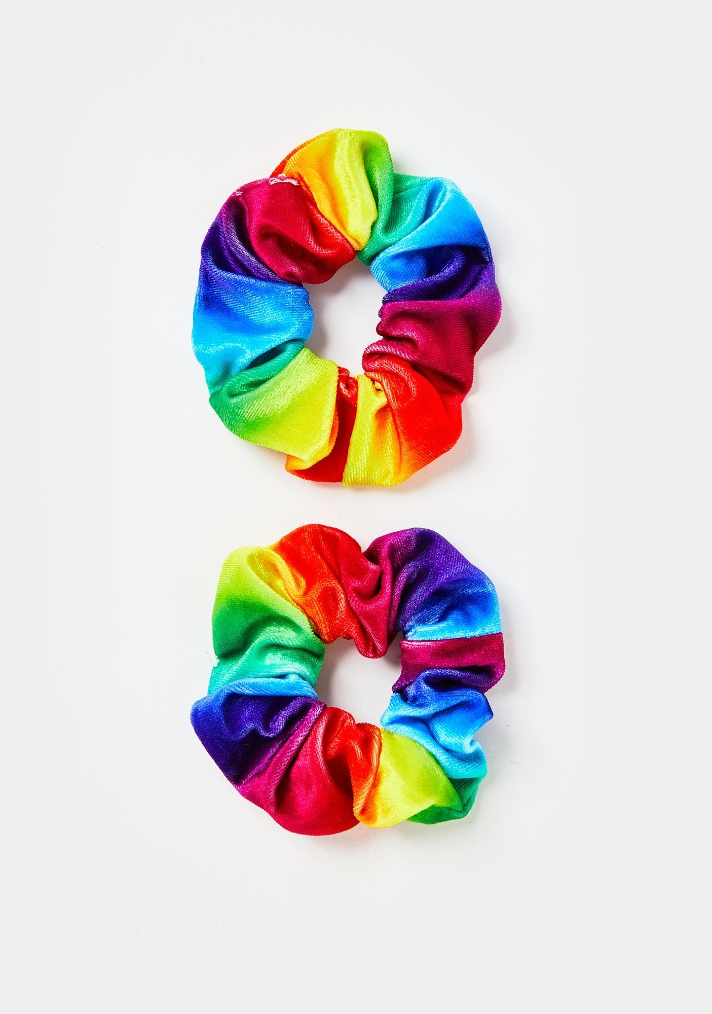 Kinetic Cartwheel Rainbow Scrunchies #hairscrunchie
