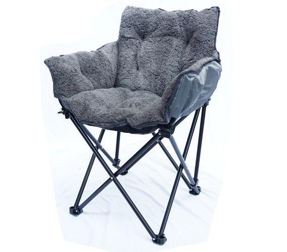 college cushion chair - ultra plush dark gray   dorm seating, dorm