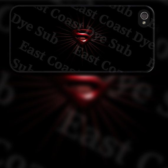Superman Red Symbol Design on iPhone 4 / 4s / 5 by EastCoastDyeSub