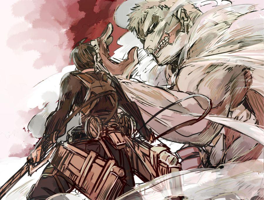 Reiner Braun x Bertholdt Hoover   snk   Pinterest   Anime