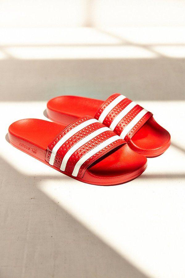 Urban Outfitters - Adidas Originals Scarlet Adilette Pool Slide ...