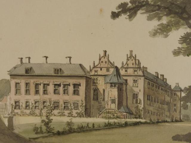 Hof te Dieren voor de brand van 1795.