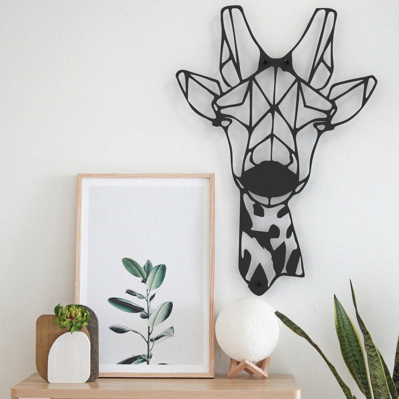 Stalen Wanddecoratie Giraf Industrieel Interieur Origineel Cadeau In 2021 Muurdecoratie Staal Geometrisch