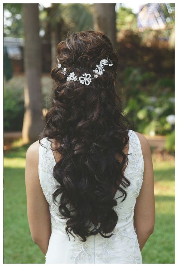 curly hairstyles | Hair styles, Engagement hairstyles, Indian bridal hairstyles