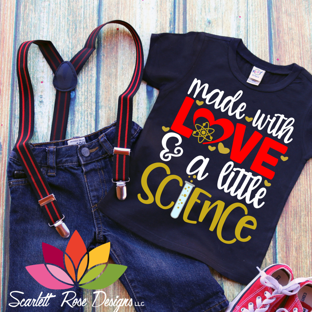 Download Made with Love and a little Science SVG   New baby ...