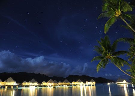 Le Taha'a Island Resort & Spa, At Night. I should save my money now!!