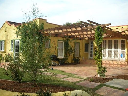 spanish house, wooden backyard patio cover pergola and patio cover ... - Pergola Patio Cover Ideas