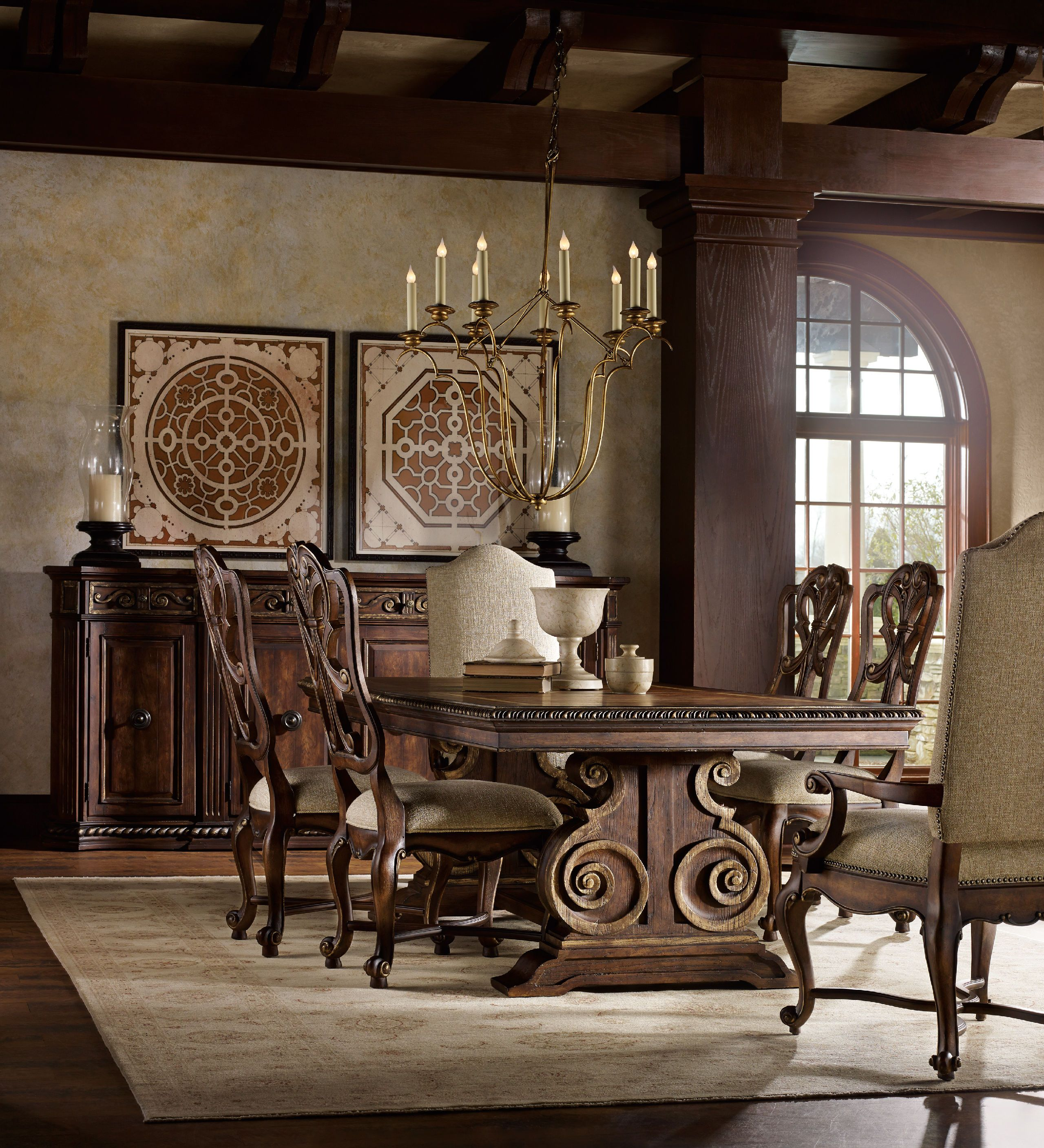 Hooker Furniture Dining Room Adagio Rectangle Dining Table 5091 75207