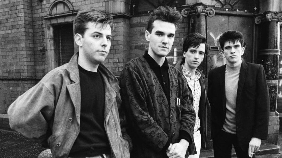 The Smiths Queen Is Dead Photo shoot  http://beardedgentlemenmusic.com/2016/06/21/smiths-the-queen-is-dead-30-year-anniversary/