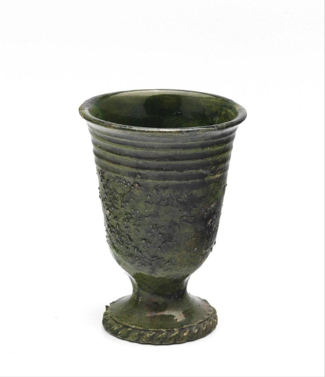 Beaker On Foot Anonymous 1575 1625 Dutch Ceramic Ceramic Vessel Pottery